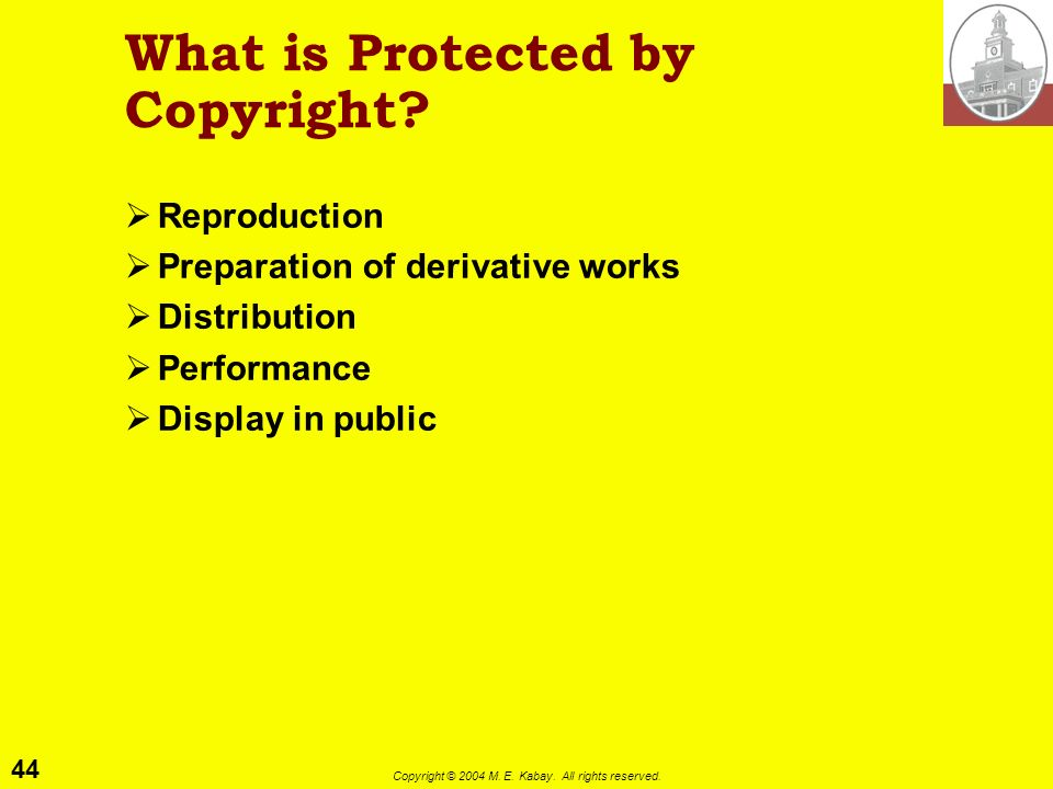 What is Protected by Copyright
