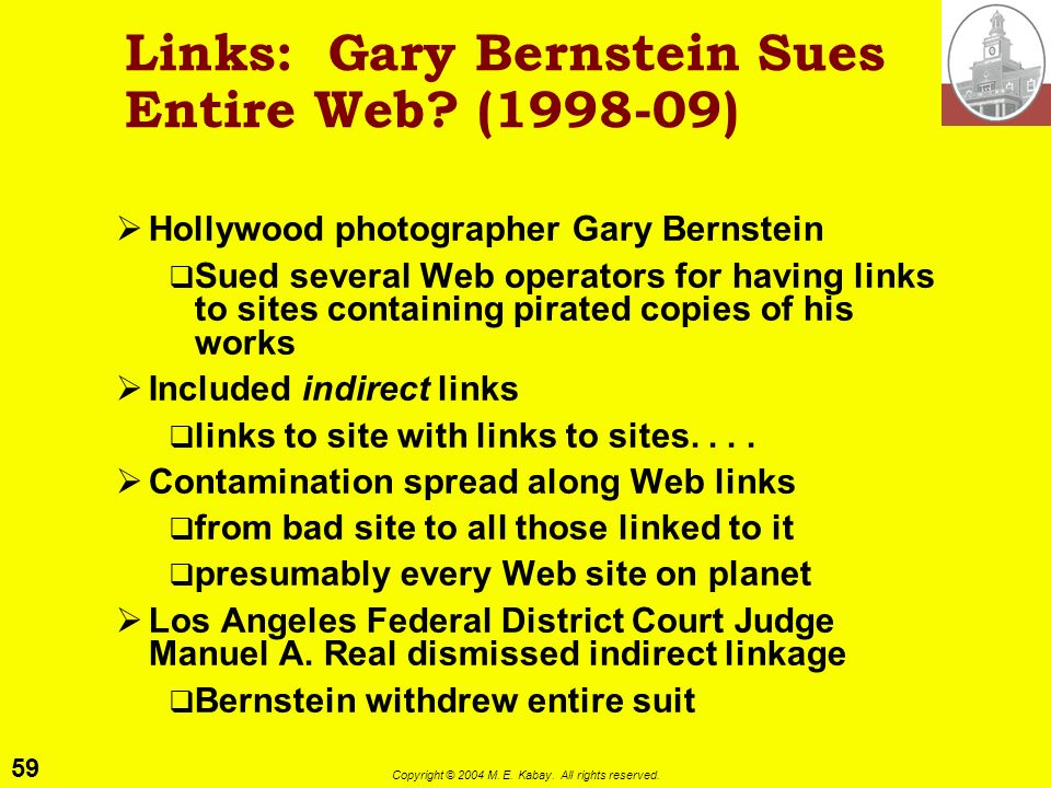 Links: Gary Bernstein Sues Entire Web ( )