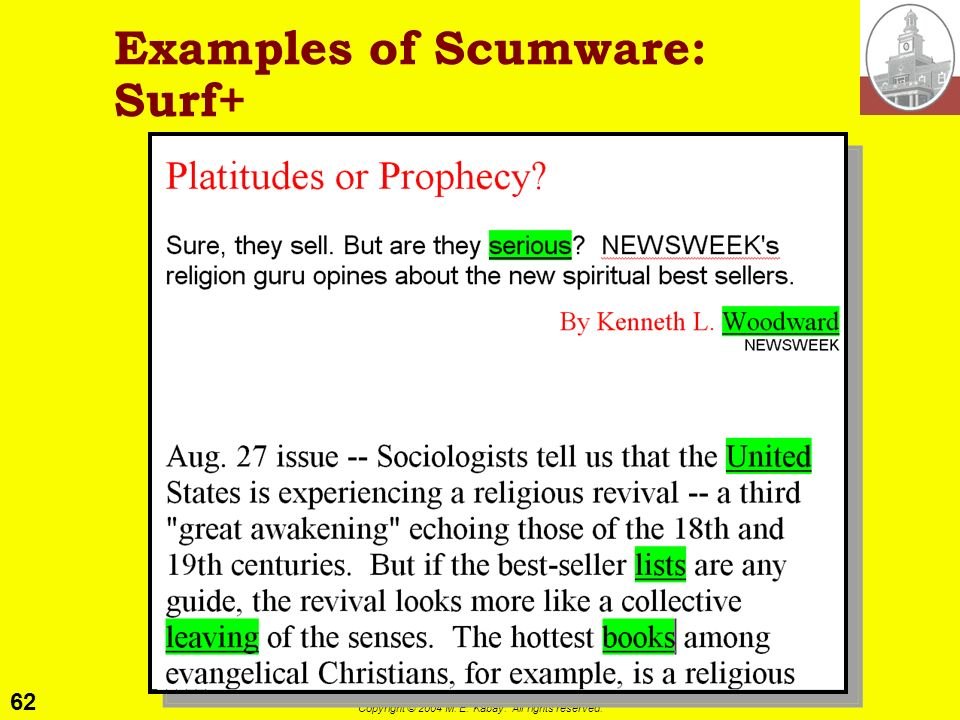Examples of Scumware: Surf+