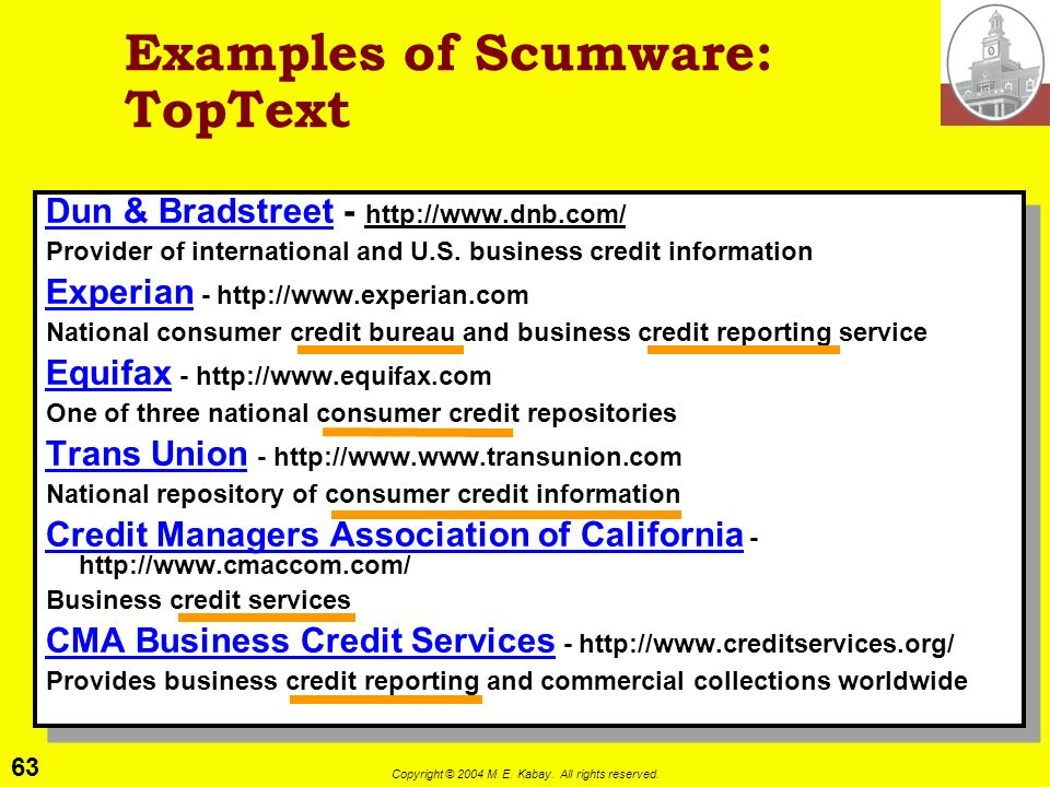 Examples of Scumware: TopText