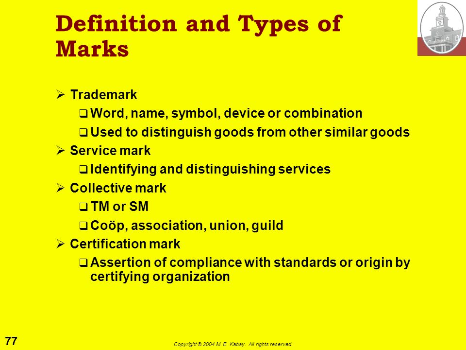 Definition and Types of Marks