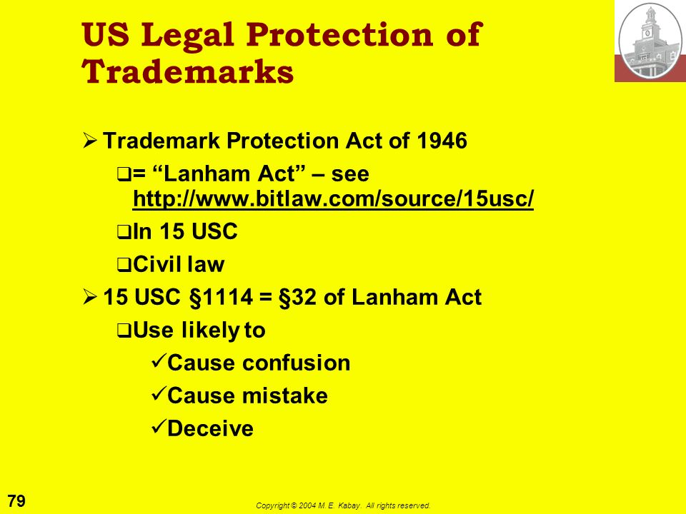 US Legal Protection of Trademarks