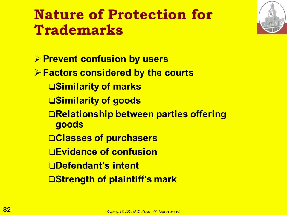 Nature of Protection for Trademarks