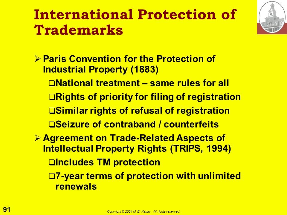 International Protection of Trademarks
