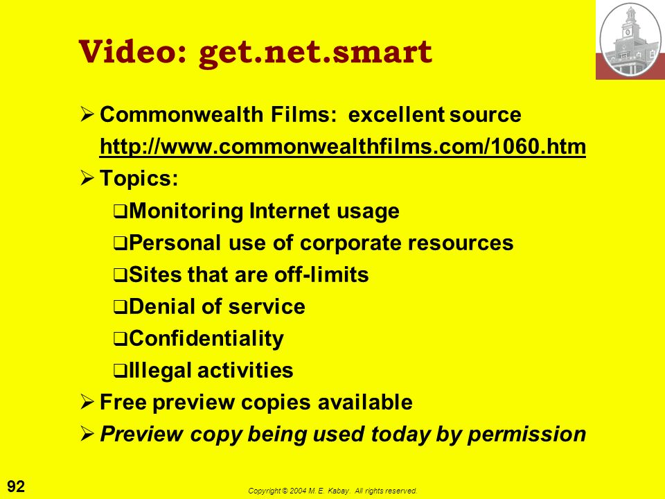 Video: get.net.smart Commonwealth Films: excellent source