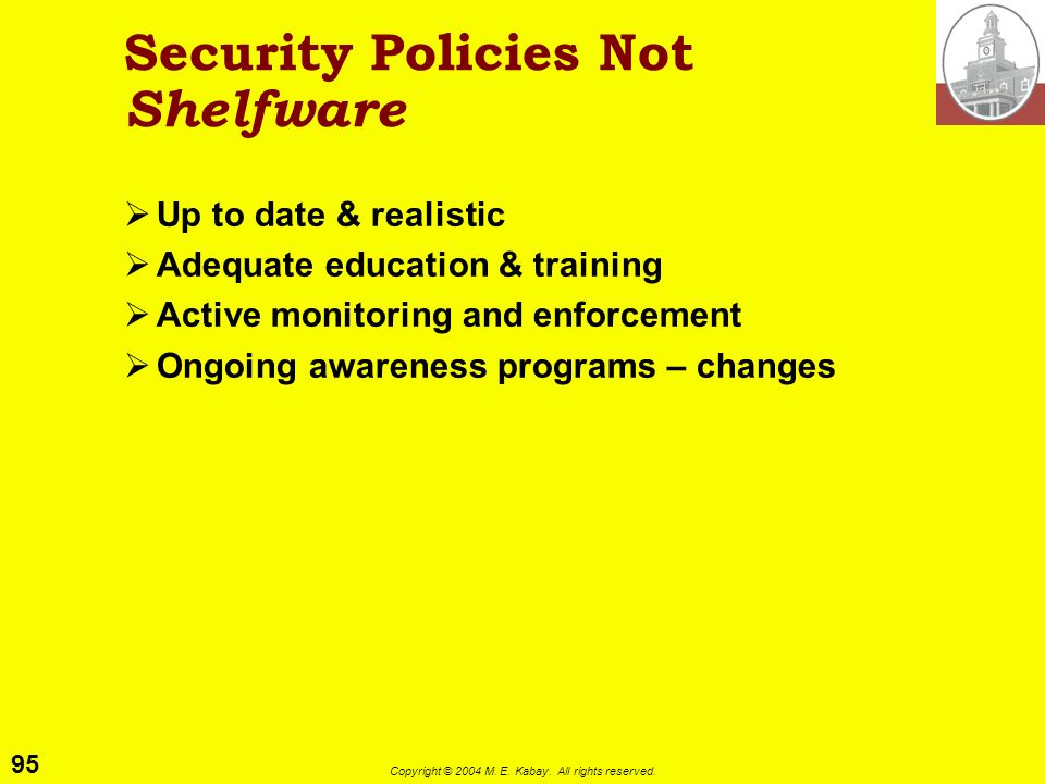 Security Policies Not Shelfware