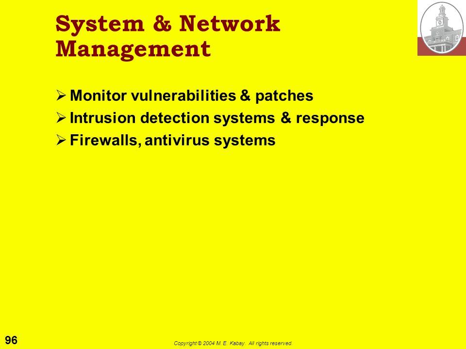System & Network Management