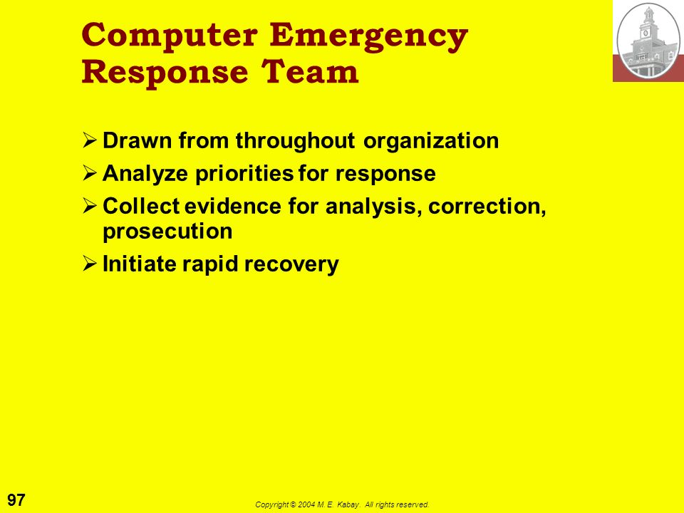 Computer Emergency Response Team