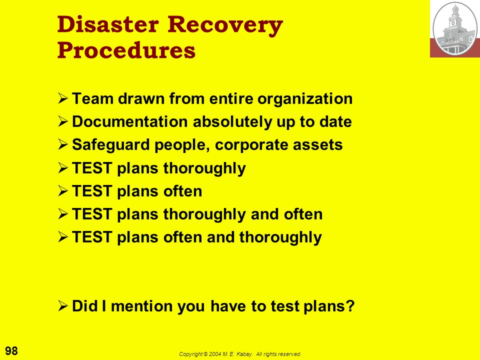 Disaster Recovery Procedures