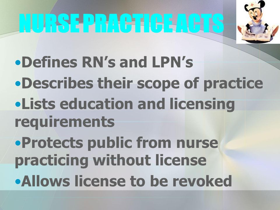 nurse practice act essays Below is an essay on nurses practice act from anti essays, your source for research papers, essays, and term paper examples.