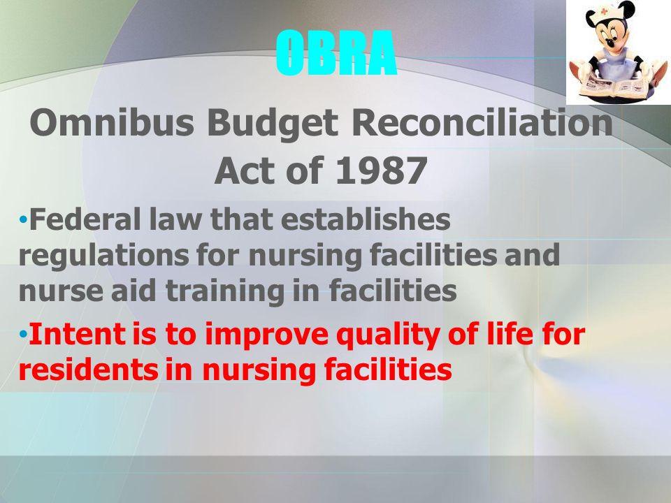 omnibus budget reconciliation act of 1987 essay