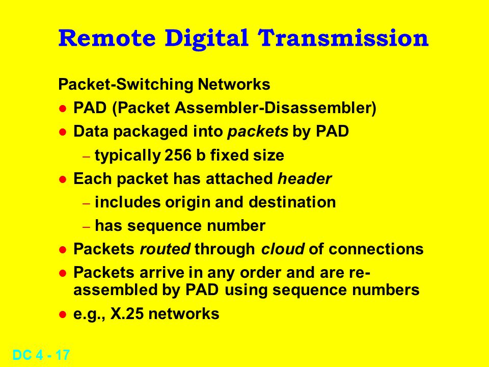 Remote Digital Transmission