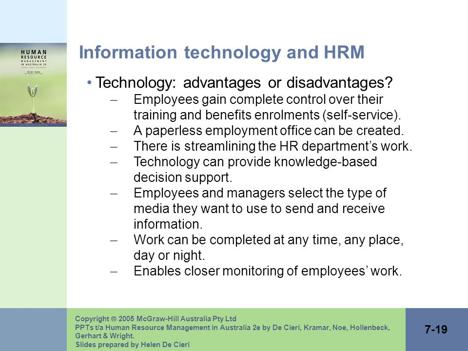 advantages and disadvantages of human resource planning pdf