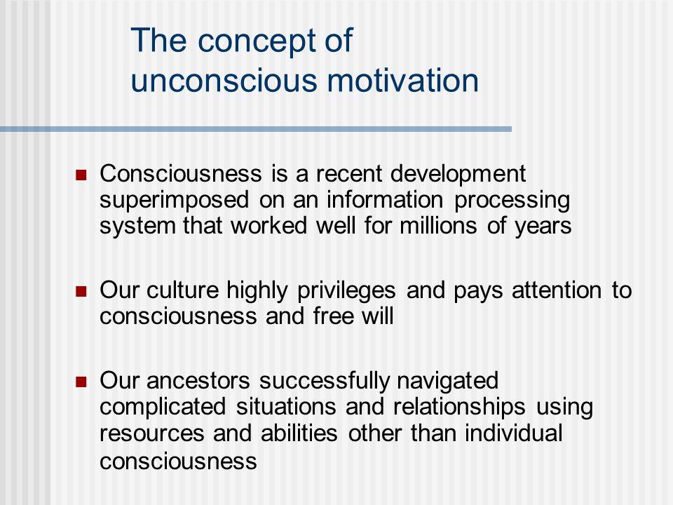 The concept of unconscious motivation
