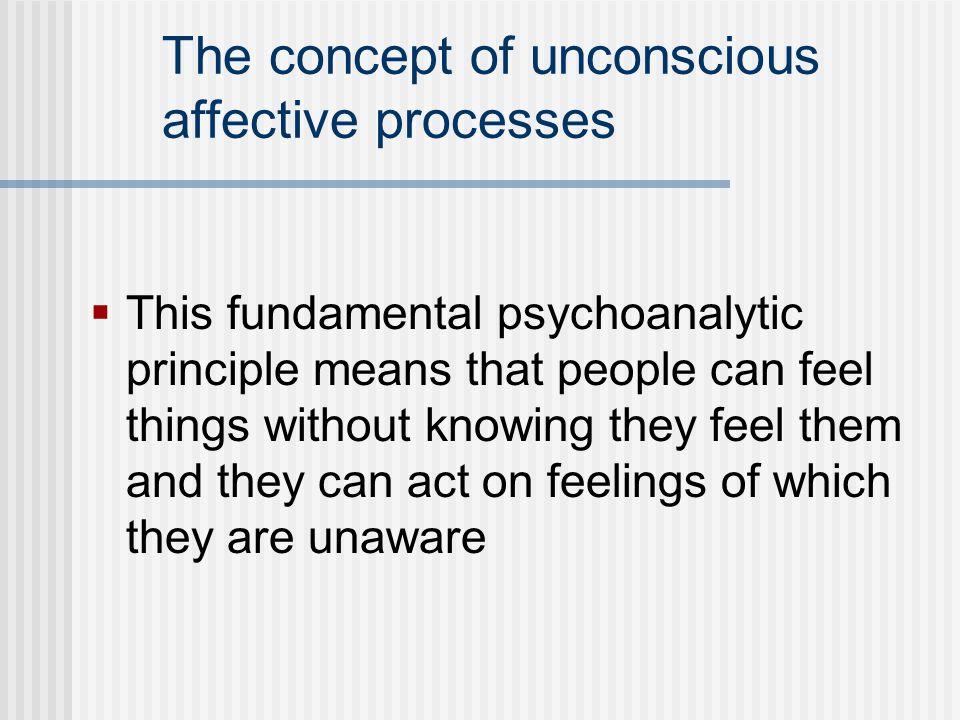 The concept of unconscious affective processes
