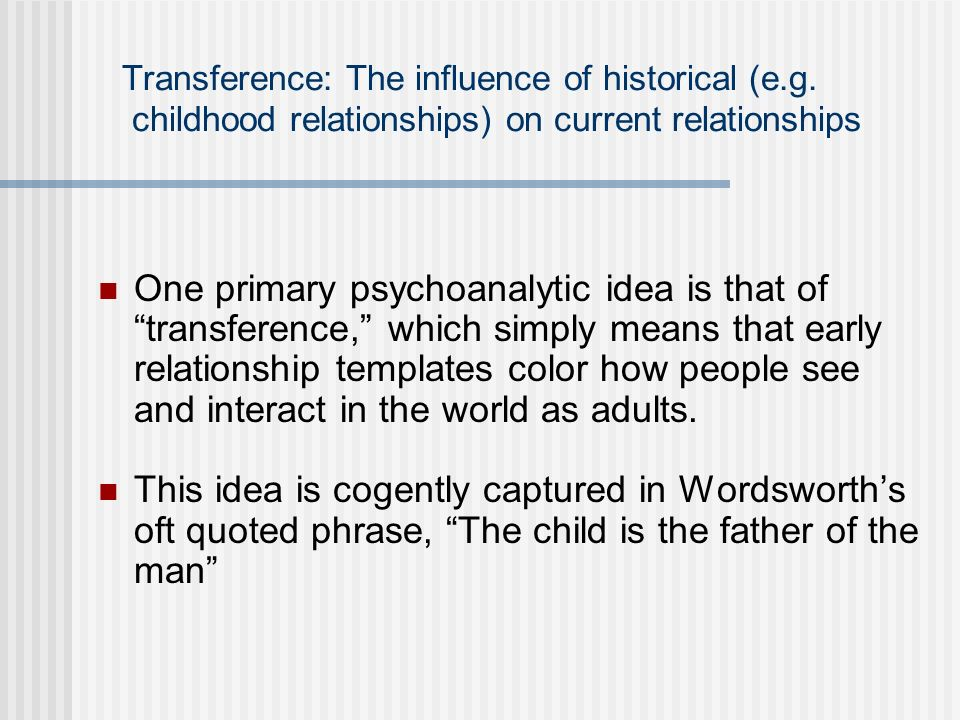 Transference: The influence of historical (e. g