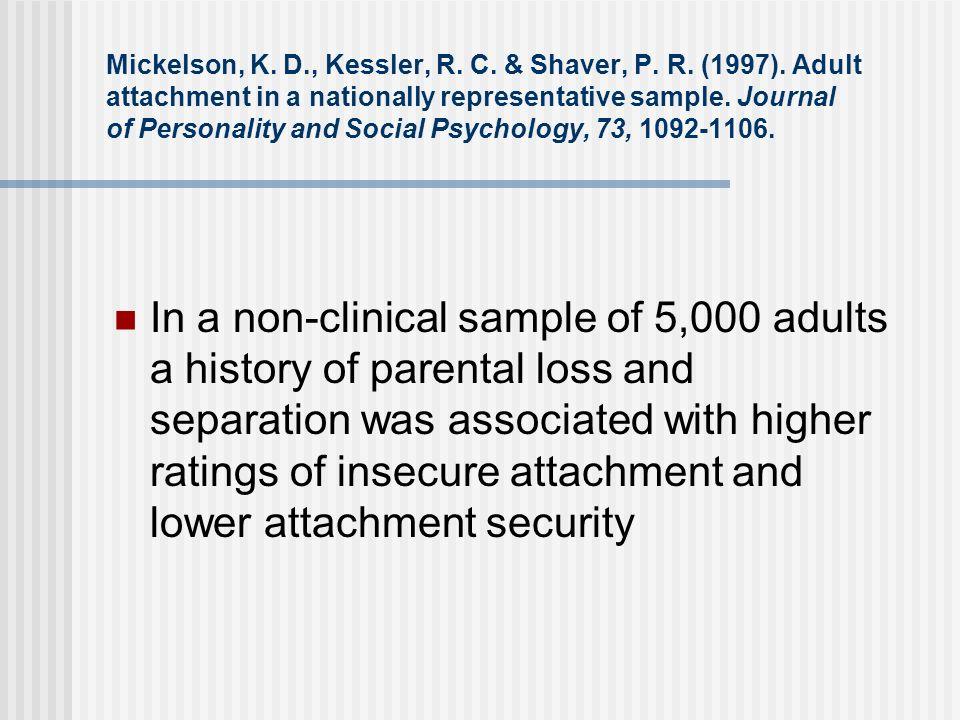 Mickelson, K. D. , Kessler, R. C. & Shaver, P. R. (1997)
