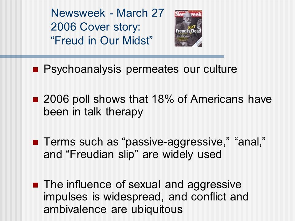 Newsweek - March Cover story: Freud in Our Midst
