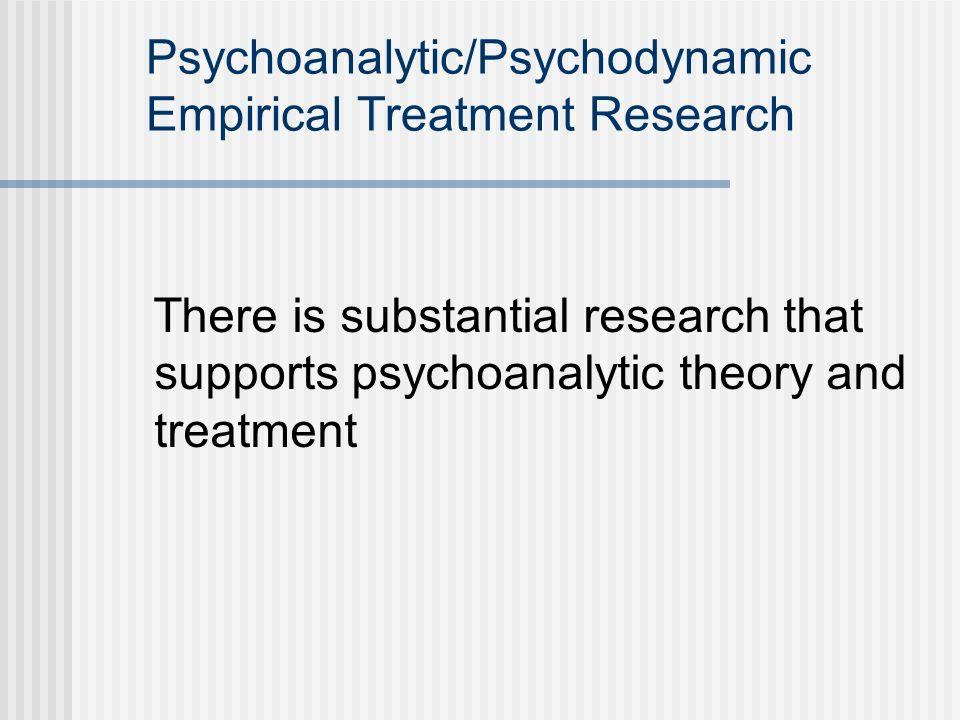 Psychoanalytic/Psychodynamic Empirical Treatment Research