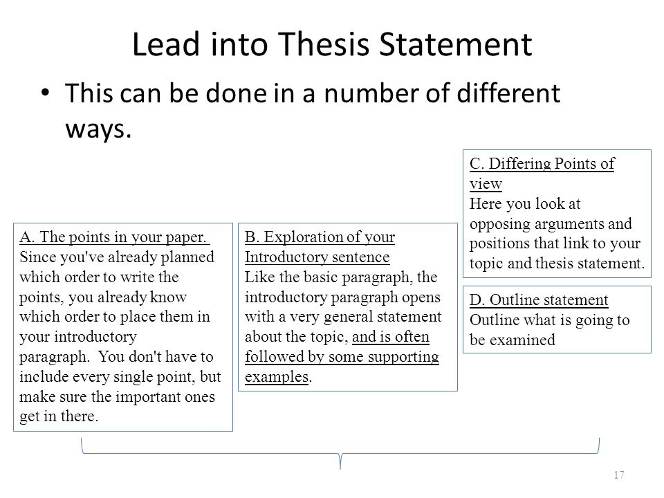 building a thesis statement and an outline Building the essay draft building a strong essay draft requires going  once you know what you want to talk about and you have written your thesis statement,.
