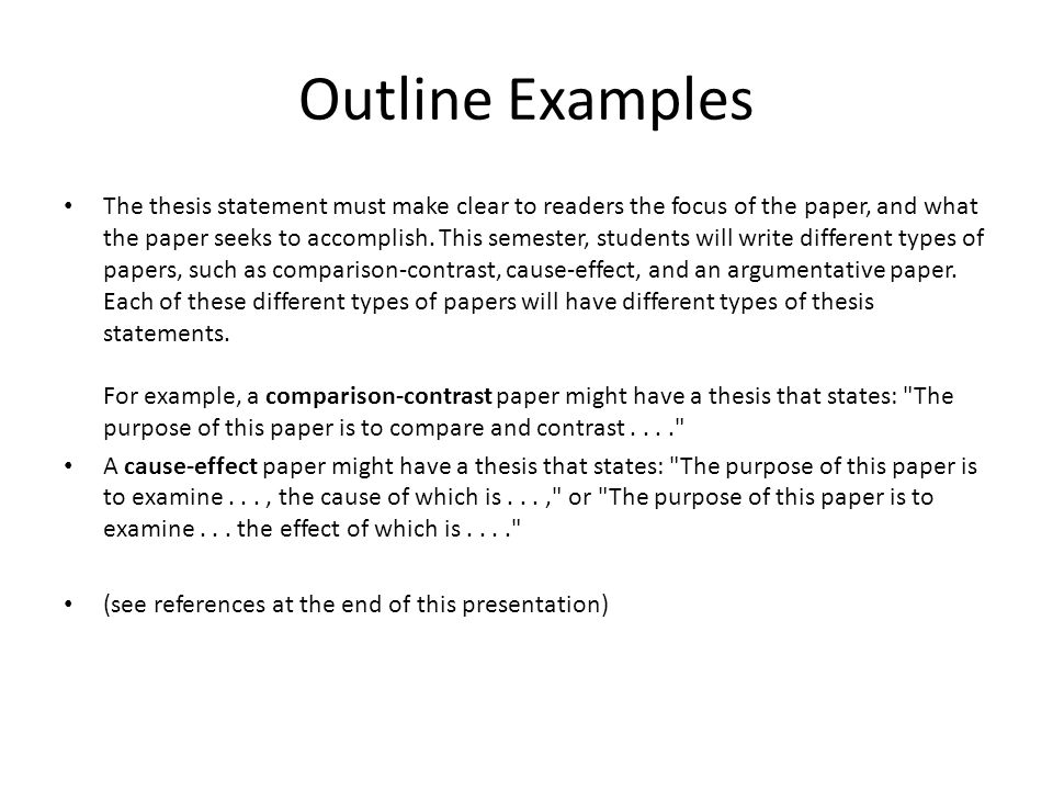 A compare and contrast essay might have the purpose of