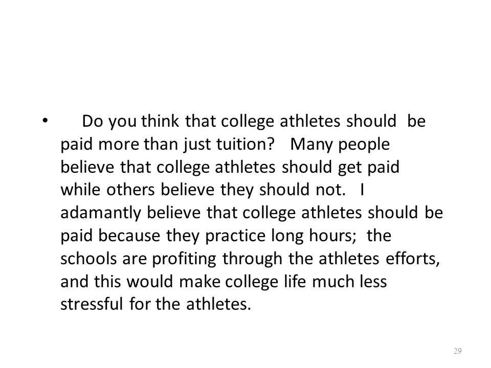 college athletes 3 essay