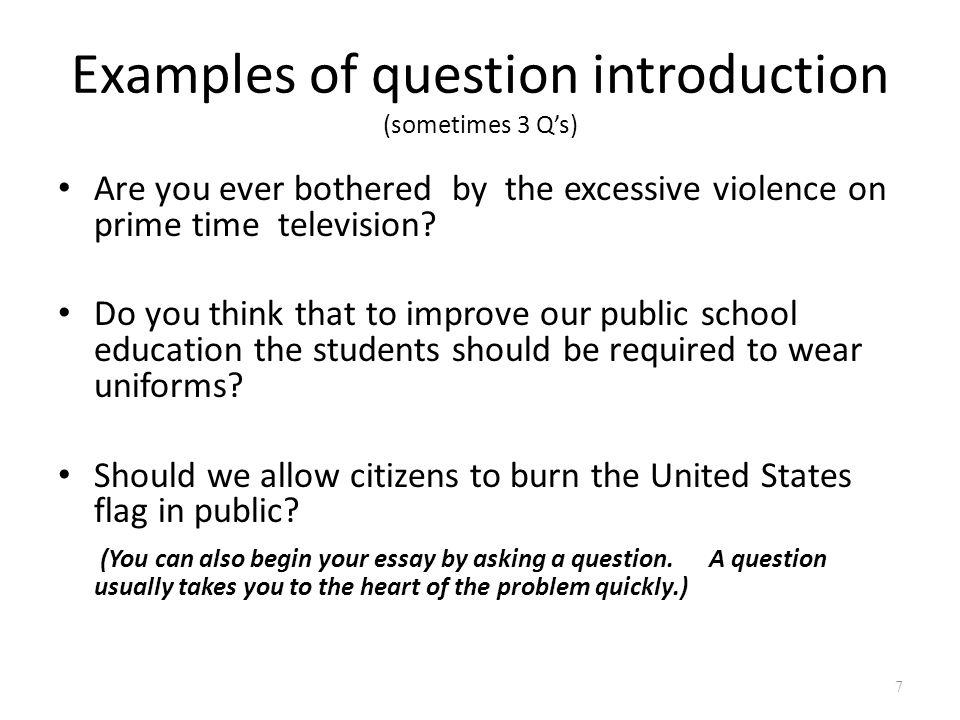 introduction for school uniform essay