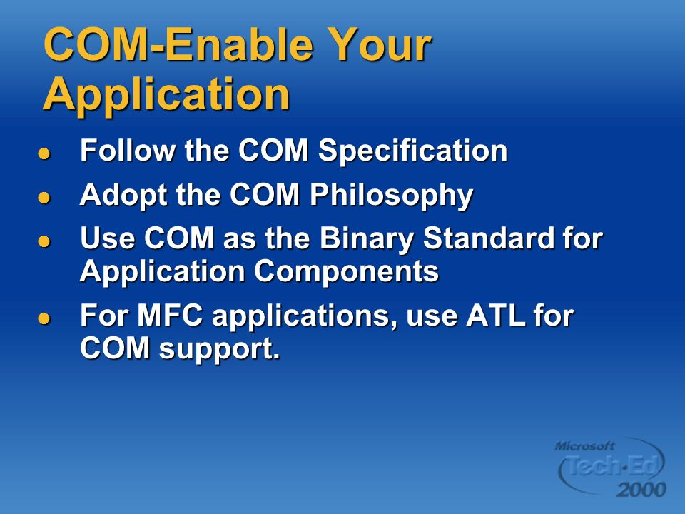 COM-Enable Your Application