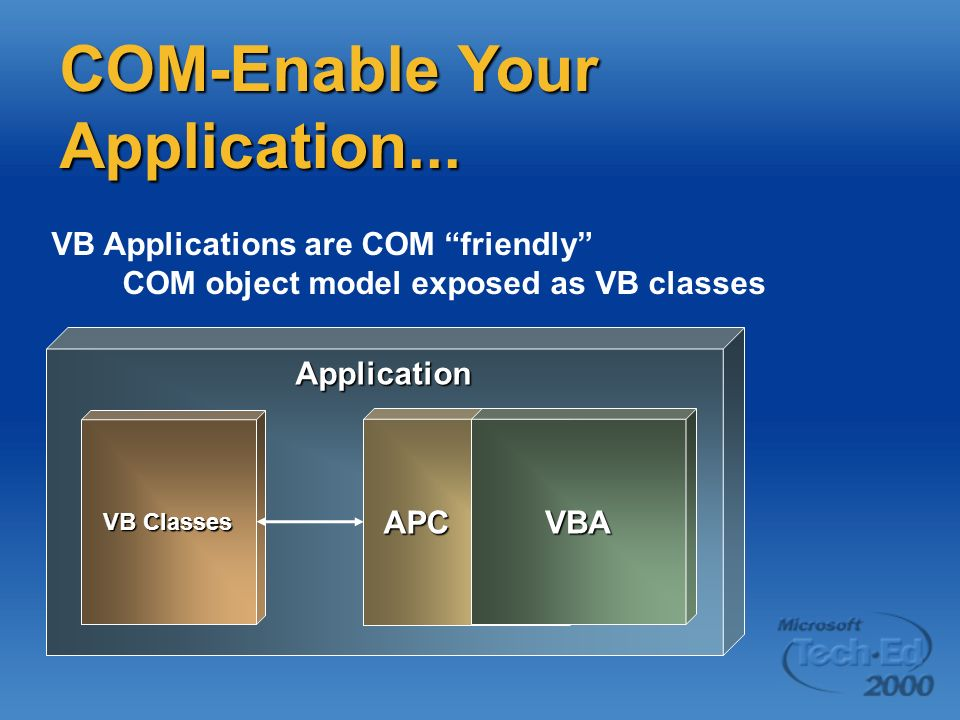 COM-Enable Your Application...