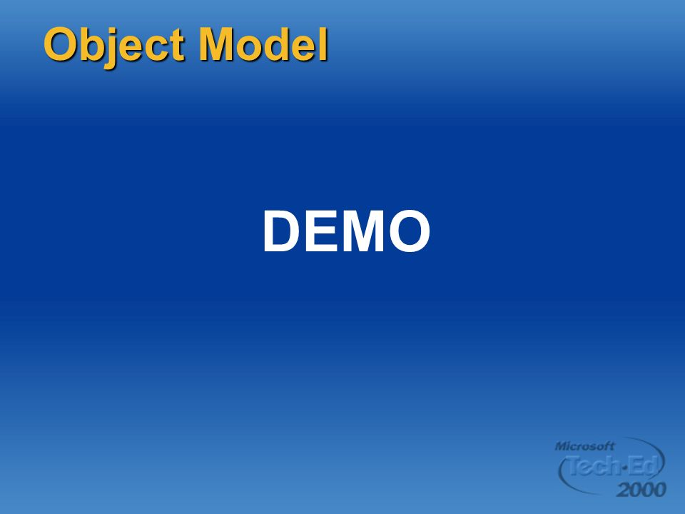DEMO Object Model Page 28 DEMO: Simple host project items