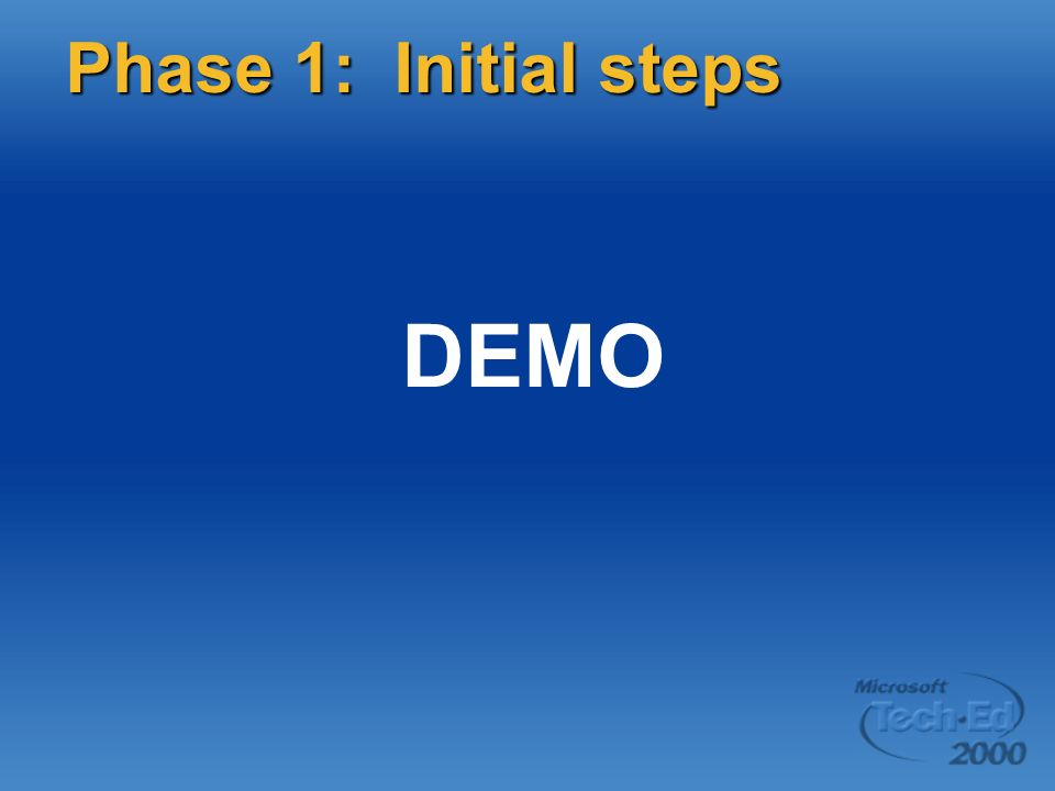DEMO Phase 1: Initial steps Page 39