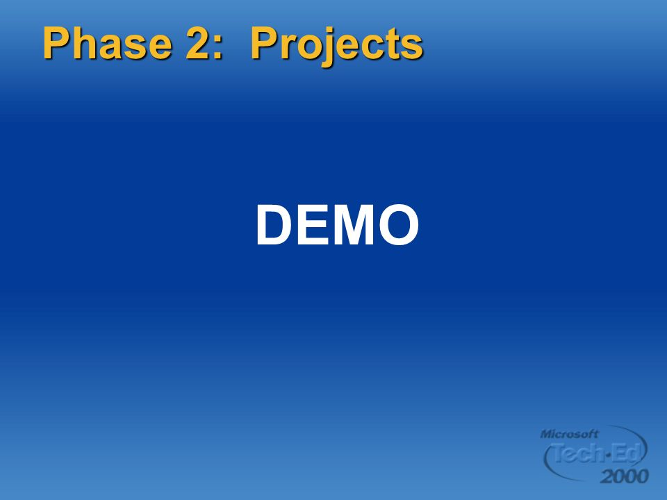 DEMO Phase 2: Projects Page 44 DEMO: Simple host project items