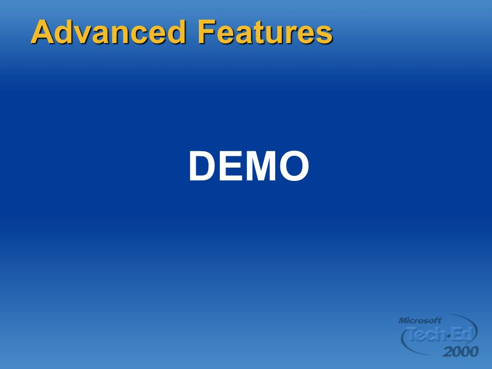 DEMO Advanced Features Page 51 DEMO: Simple host project items