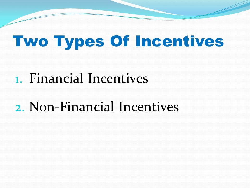 financial and non financial incentives essay Find out how to tell if a company is manipulating its financial data, so you don't invest in the next enron.