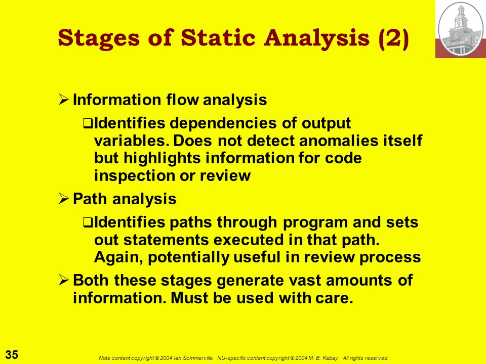 Stages of Static Analysis (2)