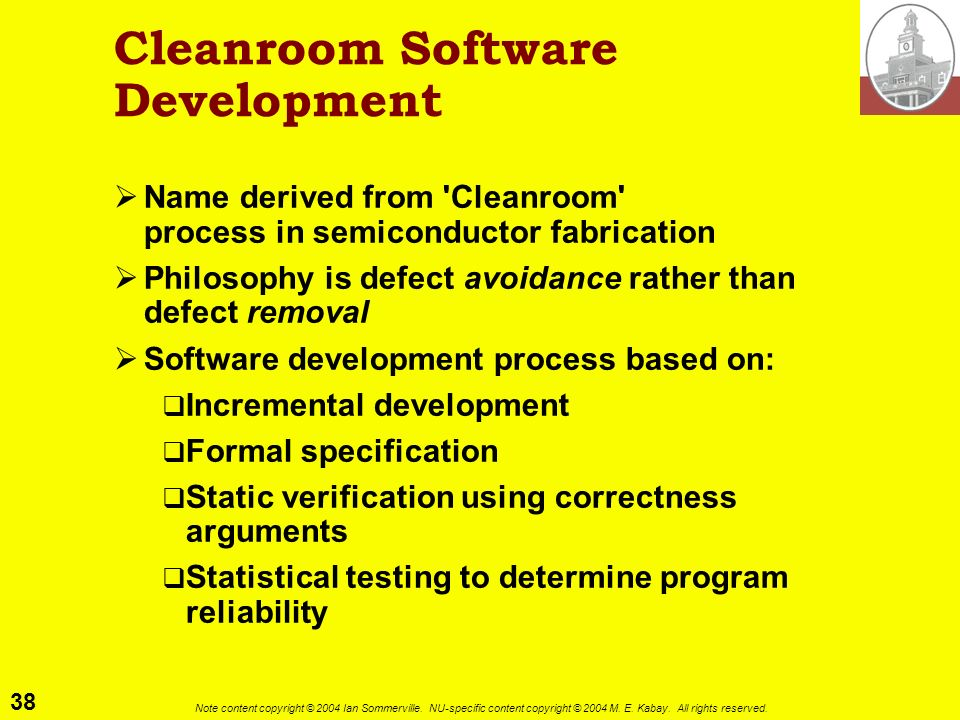 Cleanroom Software Development