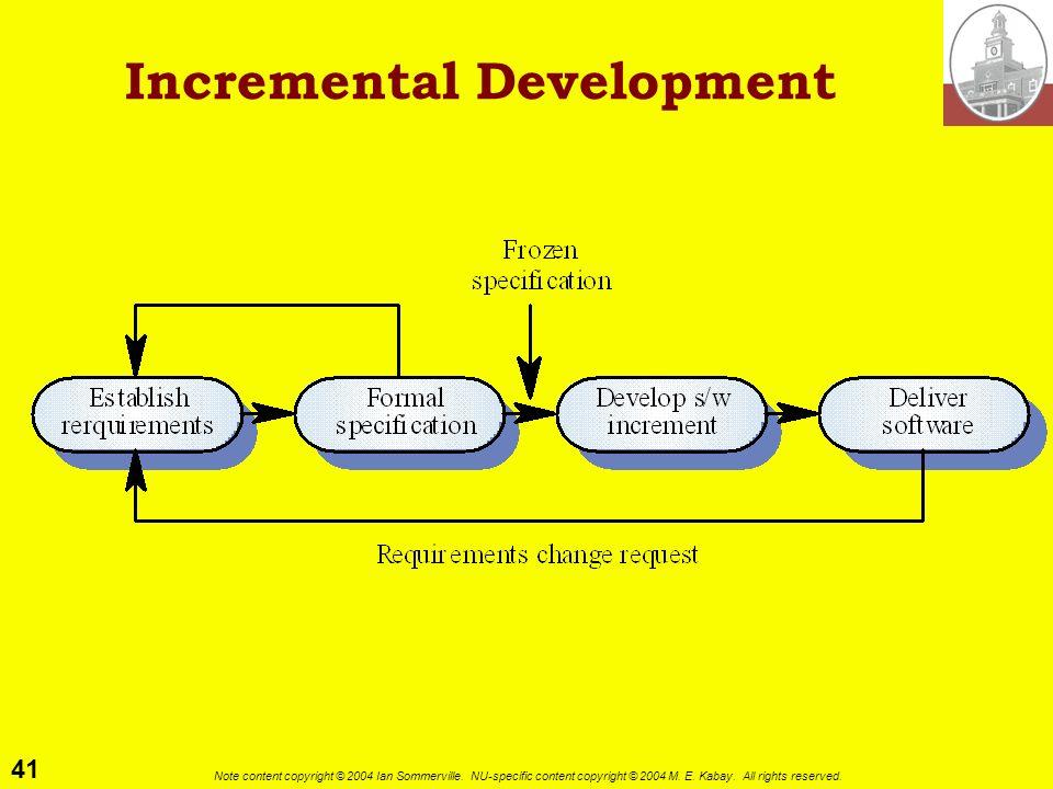 Incremental Development