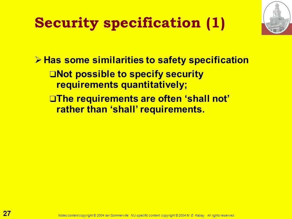 Security specification (1)