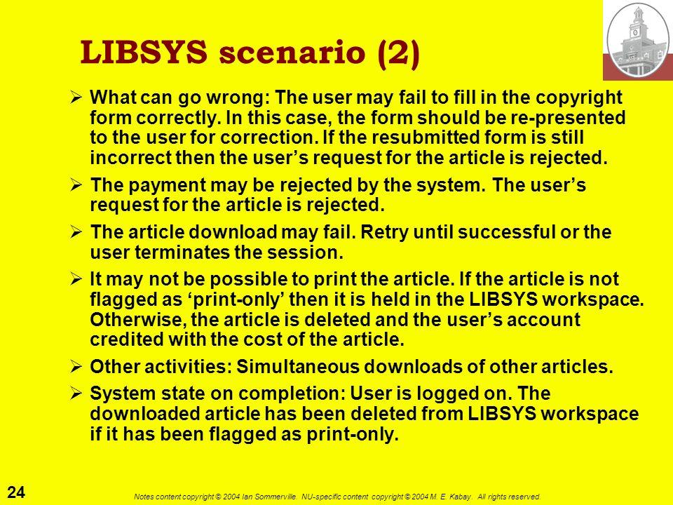 LIBSYS scenario (2)
