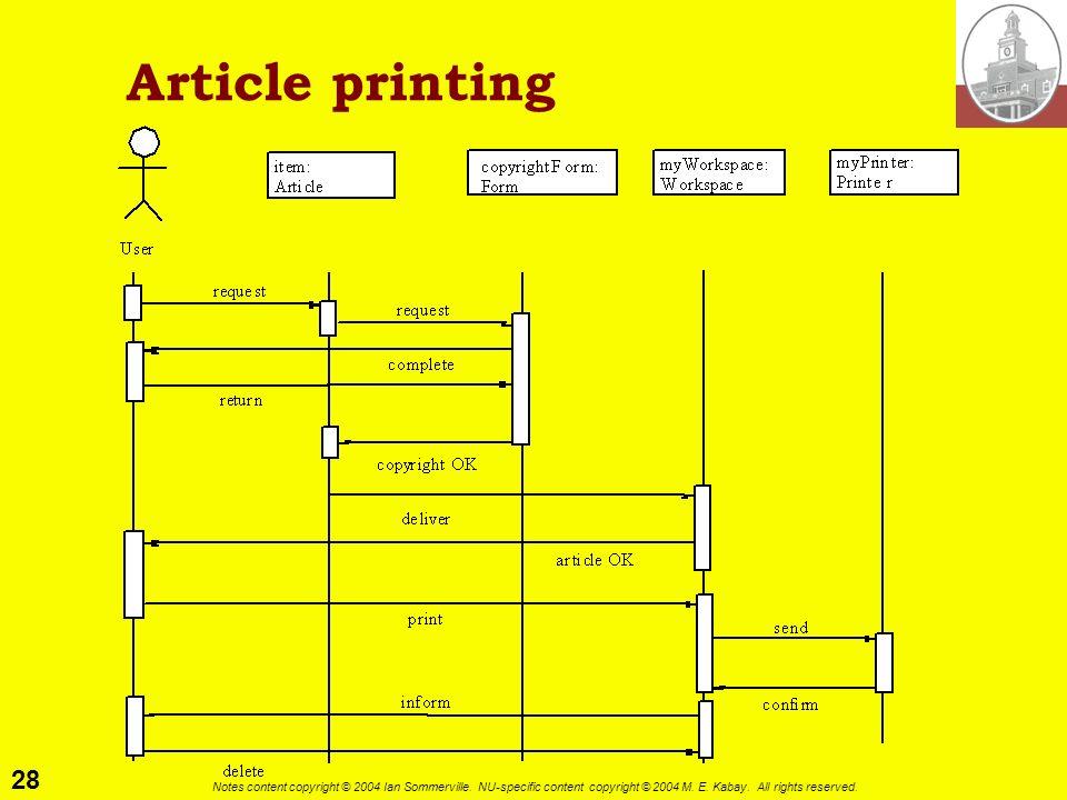 Article printing