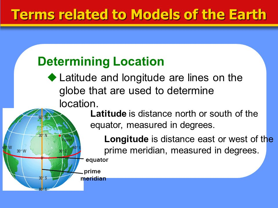 Terms related to Models of the Earth