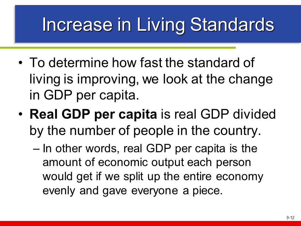 Increase in Living Standards