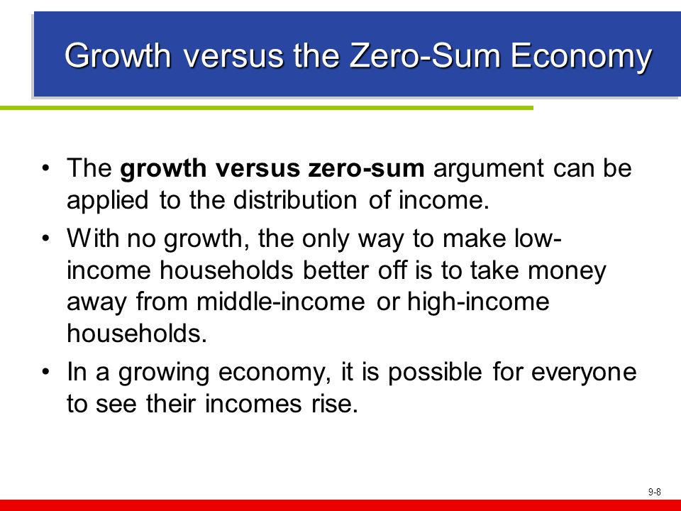 Growth versus the Zero-Sum Economy