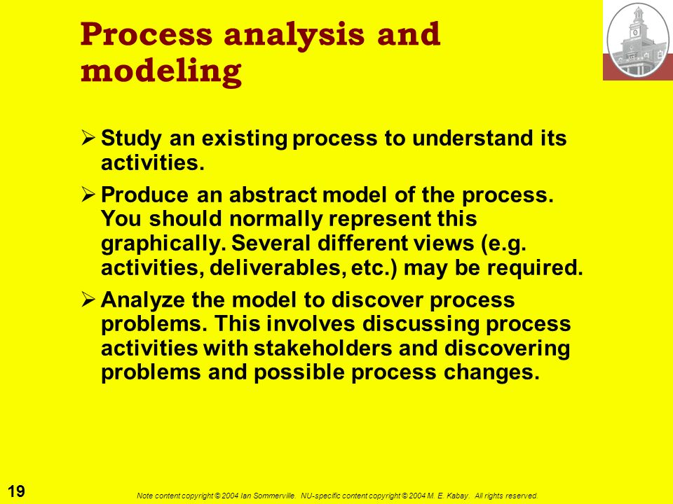 Process analysis and modeling