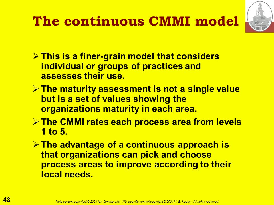 The continuous CMMI model