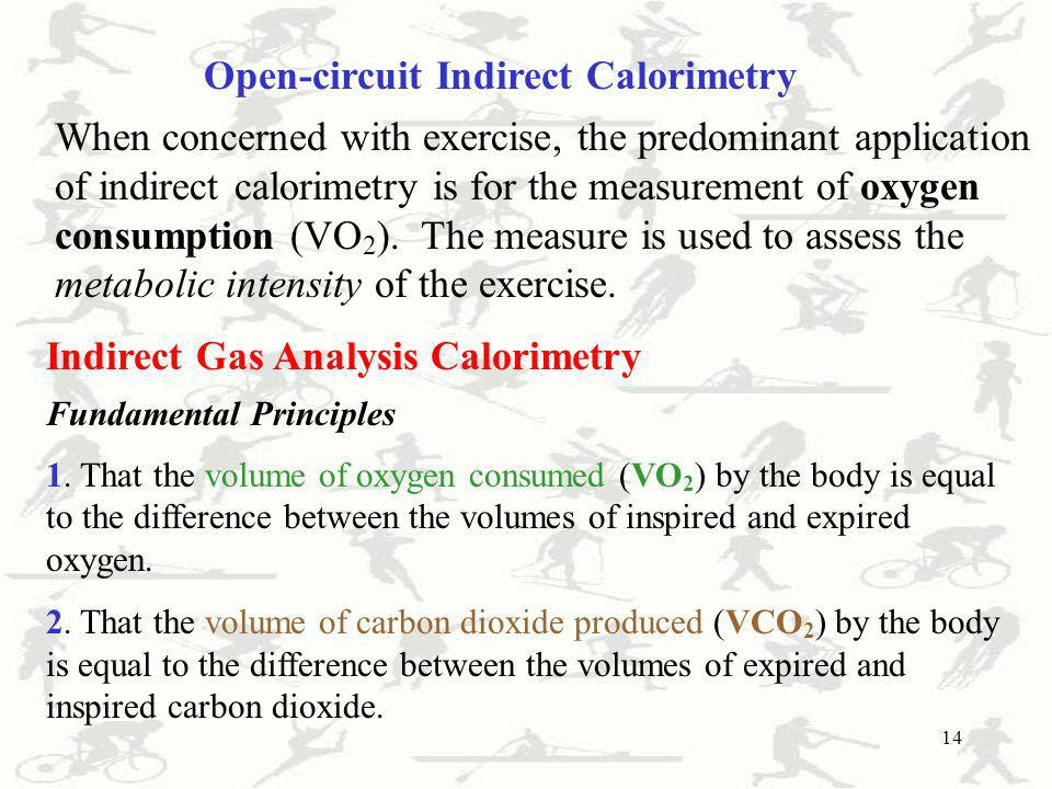 Open-circuit Indirect Calorimetry