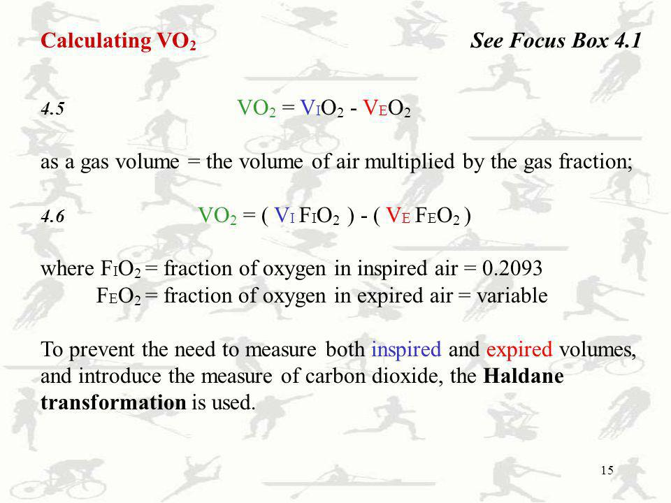 as a gas volume = the volume of air multiplied by the gas fraction;