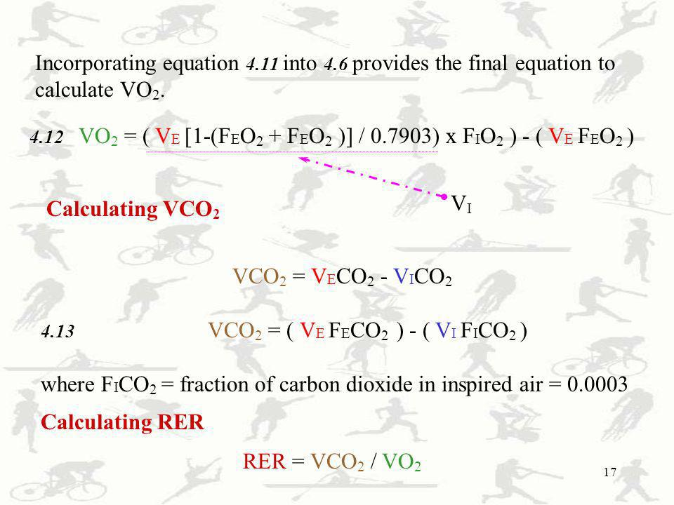where FICO2 = fraction of carbon dioxide in inspired air = 0.0003