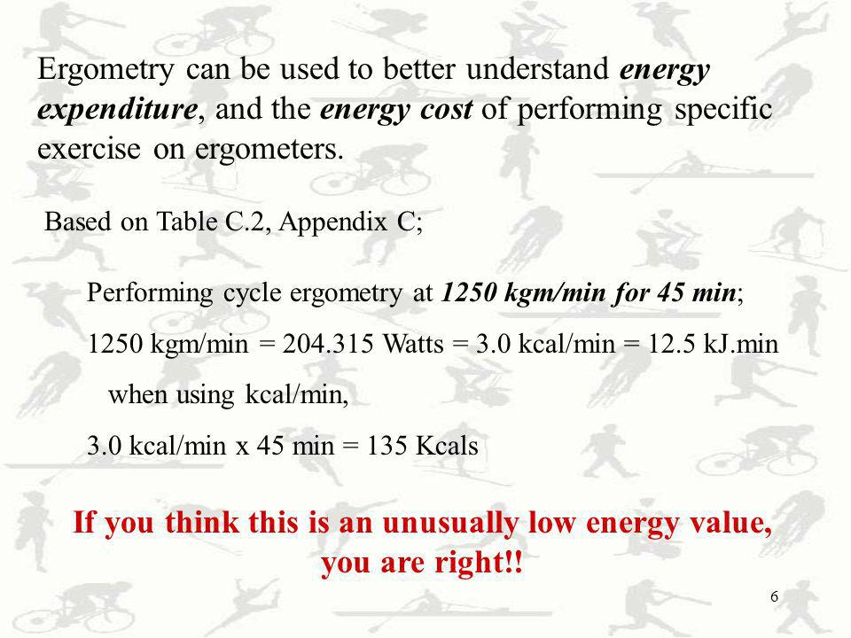 If you think this is an unusually low energy value, you are right!!