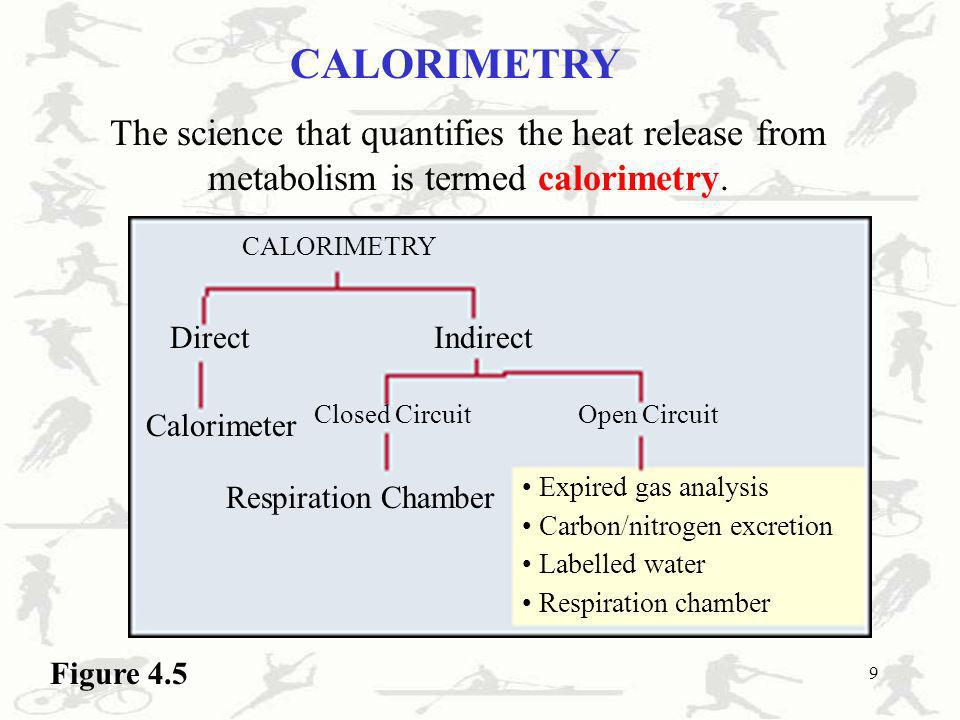 CALORIMETRYThe science that quantifies the heat release from metabolism is termed calorimetry. CALORIMETRY.